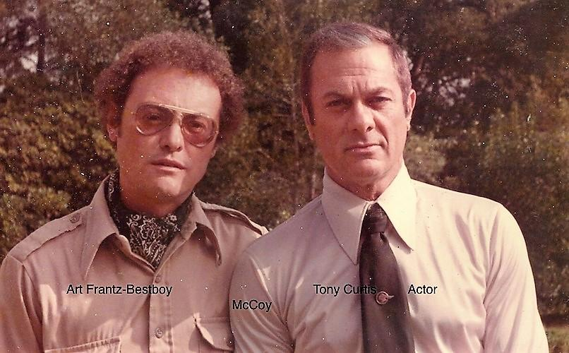 Actor Tony Curtis & Art Frantz