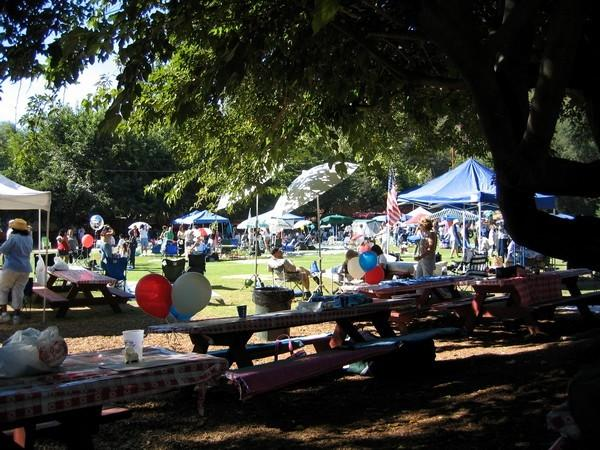 General view of the picnic grounds.