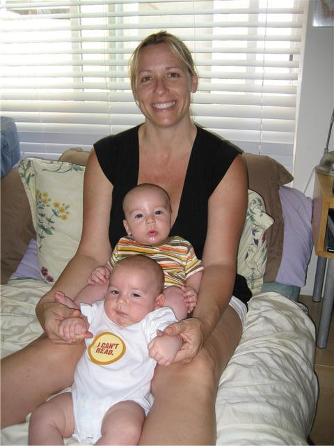 Brandy Card, Wyatt Dean, and J.T. (Joseph Thomas). Wyatt & JT were born on Jan. 4th, 2009.