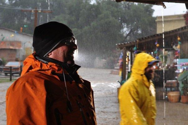 Season 3. Kelly Clear and Conan Mastrangelo hot sunny day in Mexico... NOT! (Photo contributed by Kelly Clear)