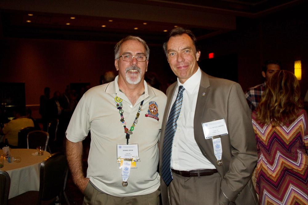 Dennis K. Grow & Pascal Guillemard at the President's Party (Photo by Kim Gottlieb-Walker, Lenswoman.com, Local 600)