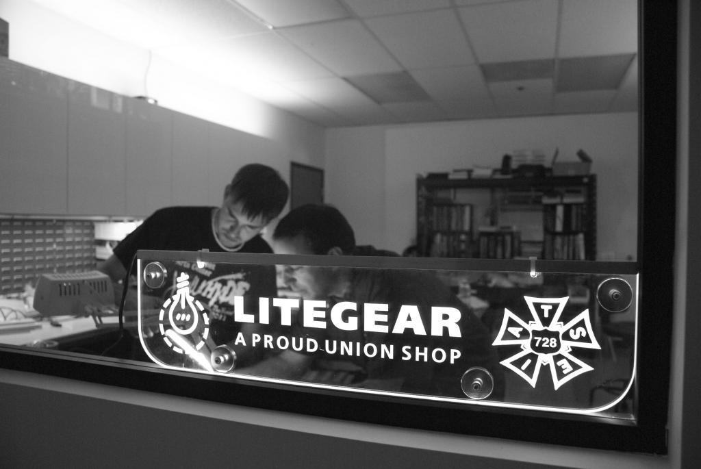Al DeMayo, on R, is the proud owner of LiteGear.