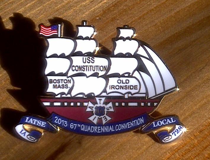 Local 728 2013 International Convention Pin
