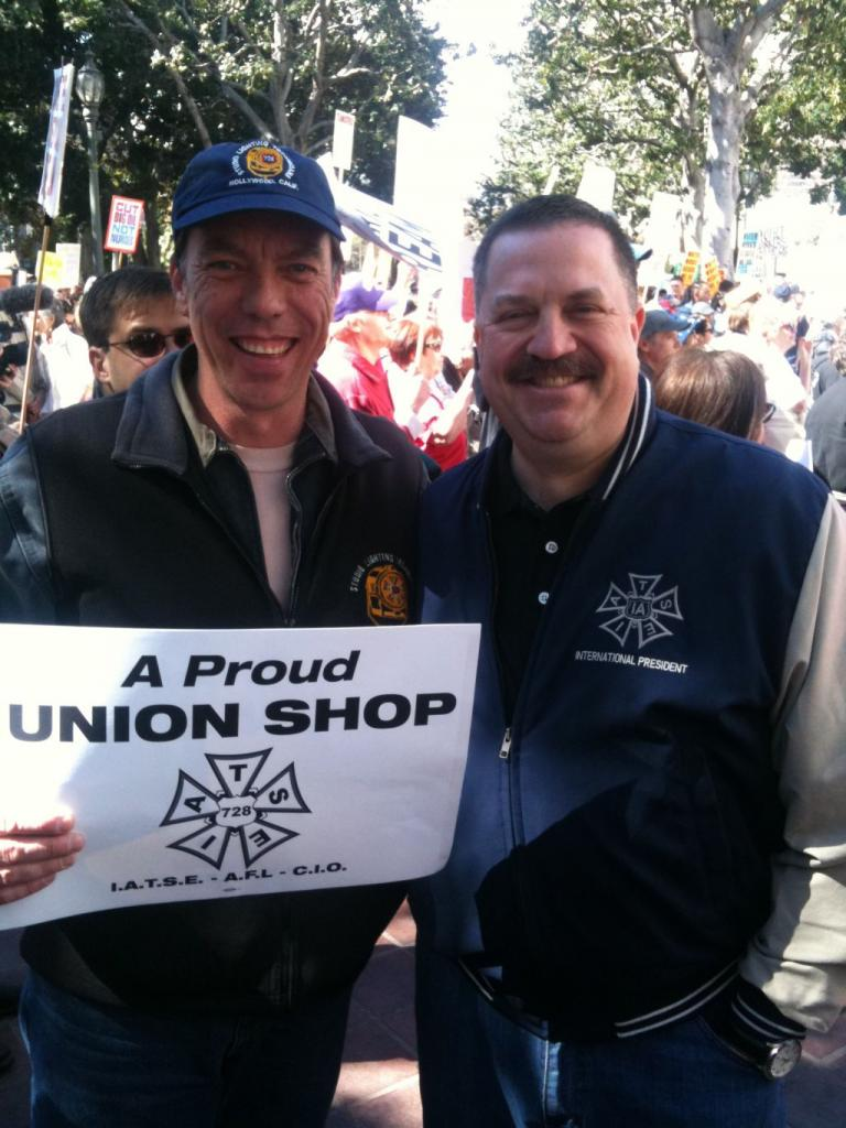 Local 728 Vice President Pascal M. Guillemard and IATSE President Matt Loeb. February 2011 (Photo by Pascal M. Guillemard)