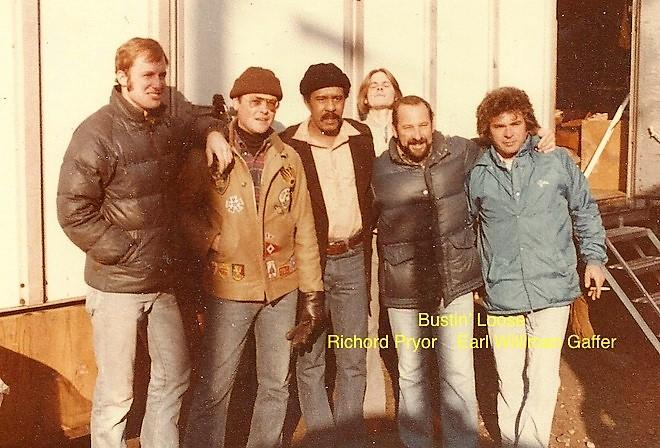 Actor Richard Pryor, CLT Earl Williman, ACLT Joe Kent, Art Frantz
