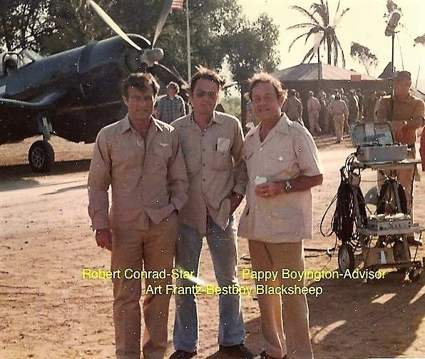Star Robert Conrad, Best Boy Art Frantz, Colonel Pappy Boyington