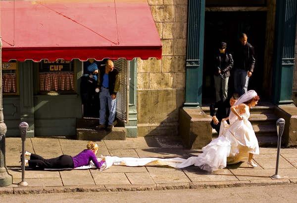 Stunt bride, backlot of Fox (Courtesy of Thomas W. Marshall)