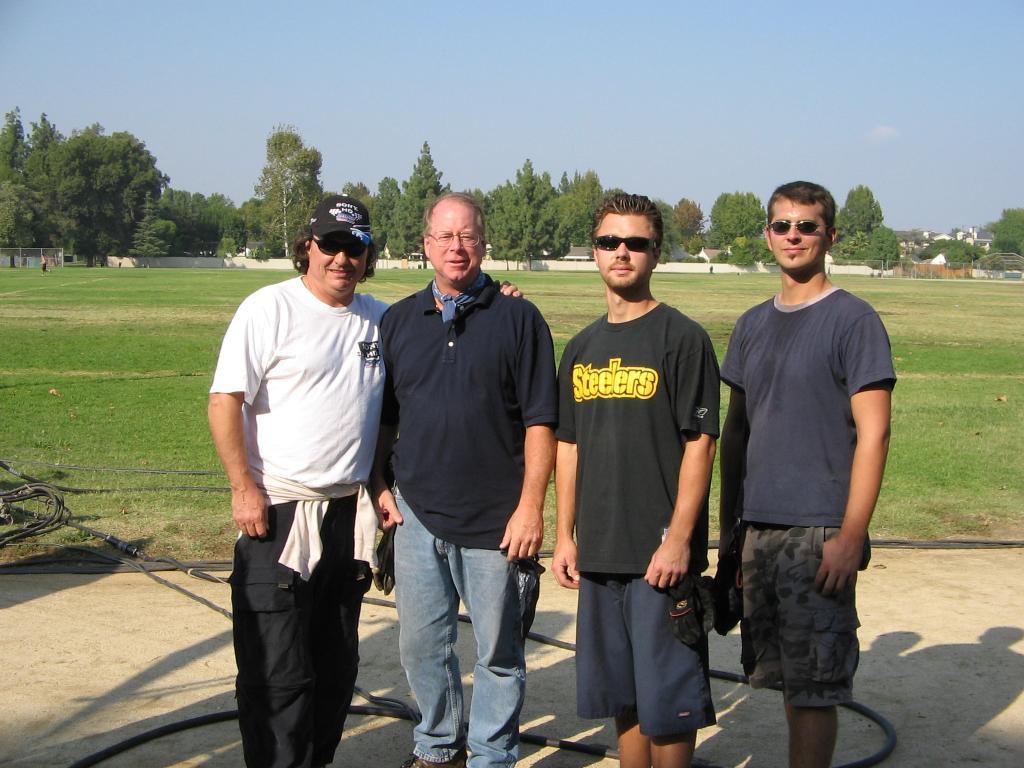 Monty Woodard CLT, Scott McKnight ACLT, Doug Bard, Mike Piekutowski, 10-2005 (Photo by Karen Weilacher)