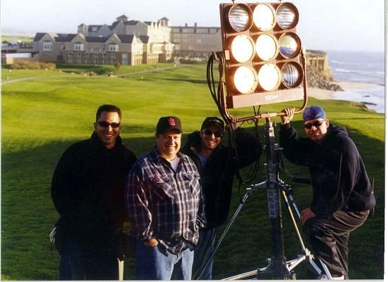 American Wedding (2003) Half Moon Bay Left to right - Jose Harb, Myron Hyman (Gaffer), Mike Kennedy, Tom Gonsalez, Jr.
