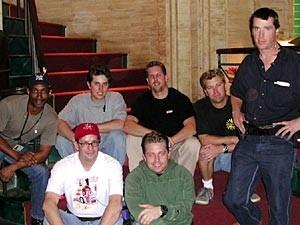 Angel season four. standing: Dan Kerns (CLT), left to right back row: Jerry Mandley (ACLT), Jason Beck, Tom McGough, Jeff Noble,