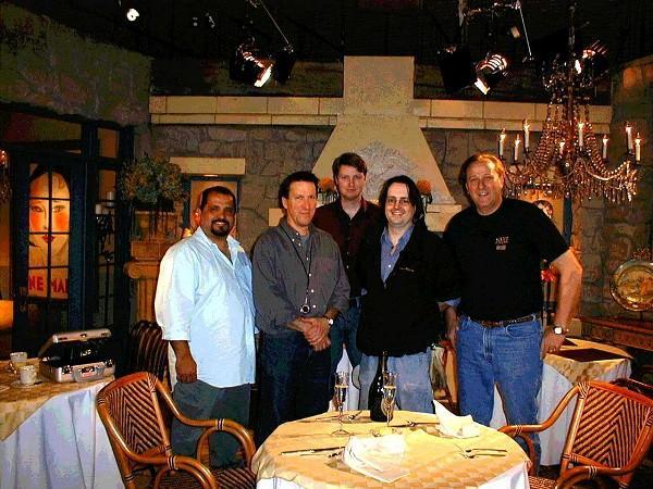 Joey Alvarado-CLT, Gregg Heschong-DP, Mark Sondag-LCP, Bill Holdsworth, Ray Poblick-ACLT (Photo by Ray Poblick)