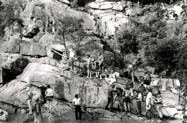 Tallulah Gorge-We had to hike in and out every day, two weeks down a 500ft 60 degree slope on a rope (Photo by Paul Caven)