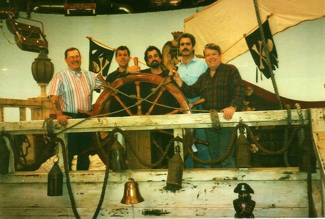Russ Hopton, Gary Mayer, Ben Batzdorff, Paul Vakay, Doug Mathias, 1997 (Photo by Doug Mathias)