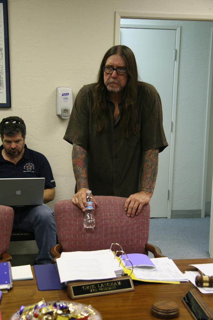 Alan Rowe, Greg Langham (Photo by Michael Everett)