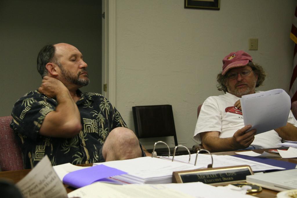 Michael Gips, Steve Mathis (Photo by Michael Everett)