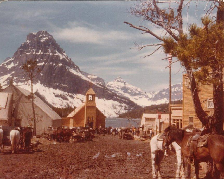 The town of Sweetwater, West Glacier, Montana, 1980 (photo contributed by Jerry Posner)