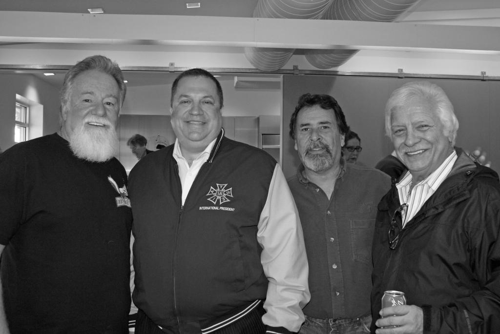 ...A retiree luncheon, with unk., IA Pres Loeb, Michael Orefice, Sr., Sal Orefice