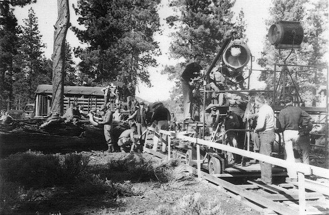 Serial, Republic Pictures, 1940. Most likely Big Bear or Mammoth Lakes, CA (Photo by Nelson Mathias)