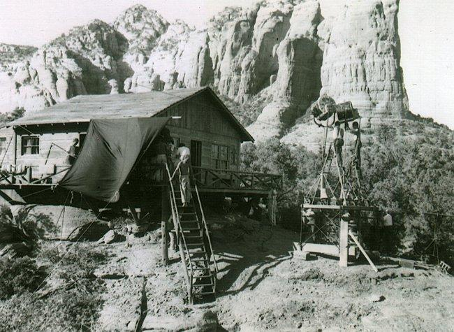 Republic Pictures, Oct. 1953 in Sedona, AZ. DP- Harry Stradling, Sr.(Photo by Nelson Mathias)