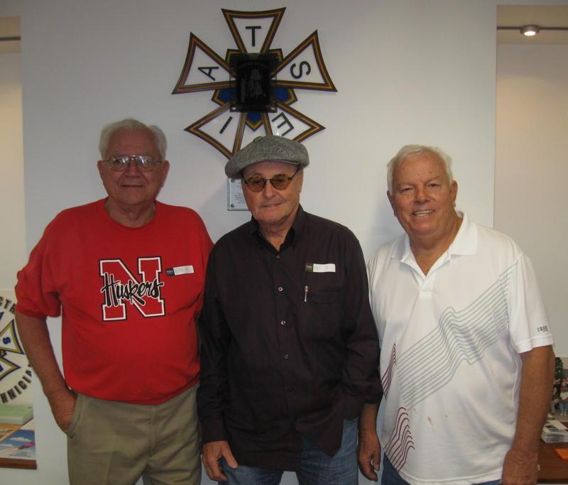 Herb Hughes (Disney), Art Franz (Fox), Terry White (Universal) all retired Studio Department Heads. (Photo by Karen Weilacher)