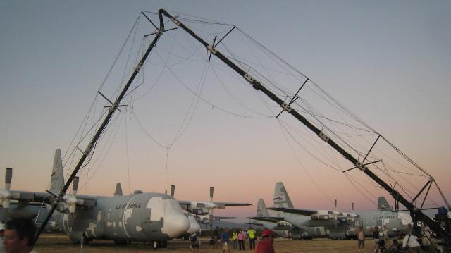 """The little known """"right angle crane,"""" 2008 (Photo by the Bauman Crew)"""