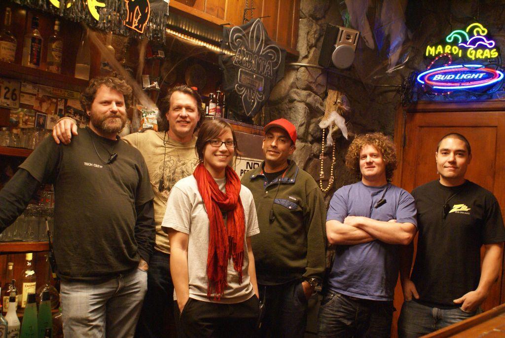 Juan Wiener, Evans Brown, Jessica Plaxton, Ray Gonzales, Larry Brecht , James Ginn (Photo by Ray Gonzales)