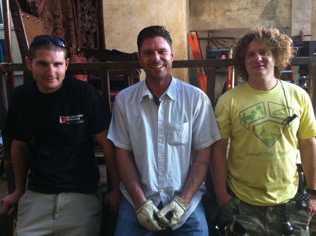 Tyler Ayer, James Barrett, Larry Brecht (Photo by Ray Gonzales)