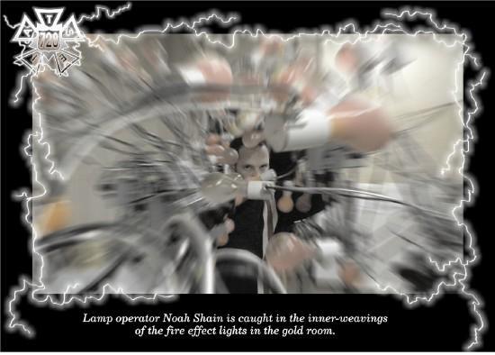 Noah Shain caught in the inner weavings... (Photo by Scott Barnes)
