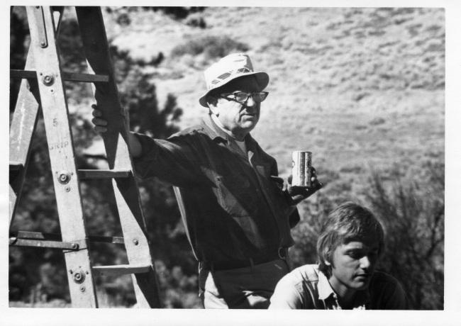 Earl Williman, Sr. (PeeWee): Earl on the set of The Waltons, circa 1970, (Photo by Earl Williman, Jr)