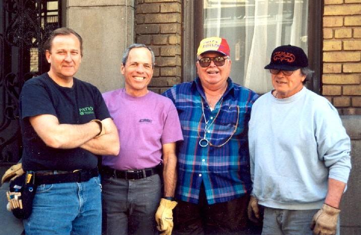 Ray Poblick, Dave Pondella, Drain Marshall, Bill Huffman, 1996 (Photo by Ray Poblick)