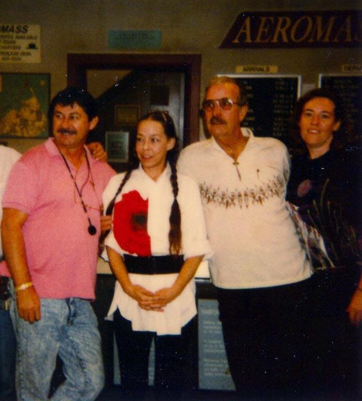 Jerry, Margot Blair, Ken, Karen Weilacher 1991-92 (Photo by Karen Weilacher)