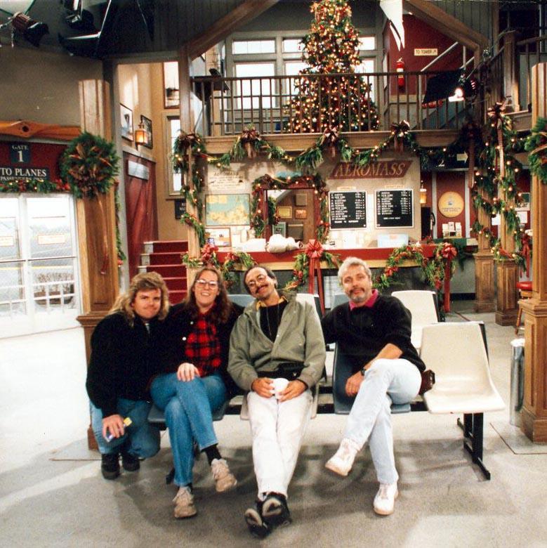 Tim Reily, Karen Weilacher ACLT, 1992 Christmas (Photo by Karen Weilacher)